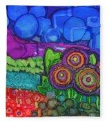 Bubble Sky Fleece Blanket