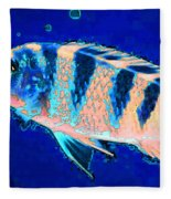 Bubbles - Fish Art By Sharon Cummings Fleece Blanket
