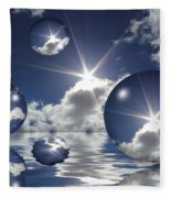 Bubbles In The Sun Fleece Blanket