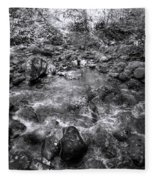 Bubbling Water Brook In The Smokies Fleece Blanket
