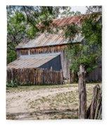 Buck Ranch Barn Fleece Blanket