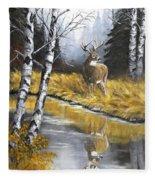 Buck Reflection Fleece Blanket