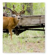 Buck Wagon Fleece Blanket