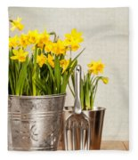 Buckets Of Daffodils Fleece Blanket