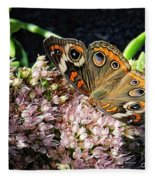 Buckeye Butterfly On Sedum Fleece Blanket