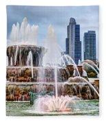 Buckingham Fountain #1 Fleece Blanket