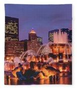 Buckingham Fountain #3 Fleece Blanket