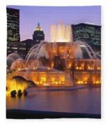 Buckingham Fountain, Chicago, Illinois Fleece Blanket