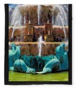 Buckingham Fountain Closeup Poster Fleece Blanket
