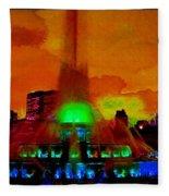 Buckingham Fountain Fantasy Chicago Il Fleece Blanket