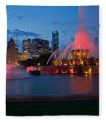 Buckingham Fountain Light Show Fleece Blanket