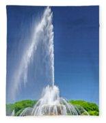 Buckingham Fountain Spray Fleece Blanket