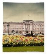 Buckingham Palace In London Uk Fleece Blanket