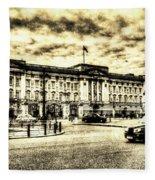 Buckingham Palace Vintage Fleece Blanket