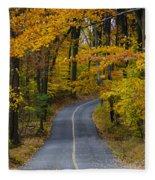 Bucks County Road In Autumn Fleece Blanket