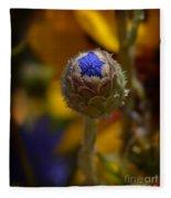 Bud Blooming Fleece Blanket