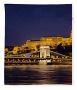Buda Castle And Chain Bridge Fleece Blanket