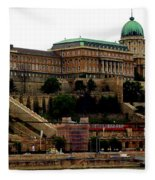 Buda Castle In Budapest Fleece Blanket