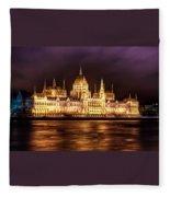 Buda Parliament  Fleece Blanket