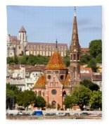 Buda Reformed Church In Budapest Fleece Blanket