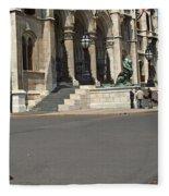 Parliament Budapest Fleece Blanket