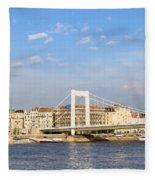 Budapest Skyline Fleece Blanket