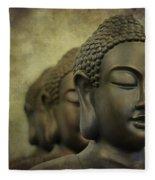 Buddha Bronze Fleece Blanket