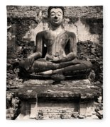 Buddha In Meditation Statue Fleece Blanket