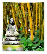 Buddha In The Bamboo Forest Fleece Blanket