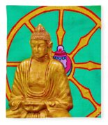 Buddha In The Grove Fleece Blanket