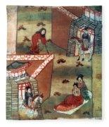 Buddha Prince Siddhartha Fleece Blanket