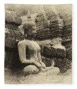 Buddha Sukhothai Thailand 5 Fleece Blanket