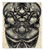 Buddha Vase Fleece Blanket