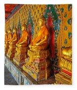 Buddhas At Wat Arun, Bangkok Fleece Blanket