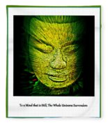 Buddhas Mind II Fleece Blanket