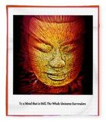 Buddhas Mind IIi Fleece Blanket