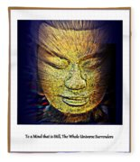 Buddhas Mind Fleece Blanket