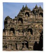 Buddhas Of Borobudur Fleece Blanket