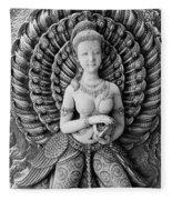 Buddhist Carving 02 Fleece Blanket