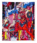 Buddhist Dancers 2 Fleece Blanket
