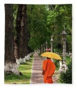 Buddhist Monk 01 Fleece Blanket