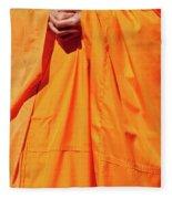 Buddhist Monk 02 Fleece Blanket