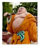 Buddhist Monk On Journey Haw Par Villas Singapore Fleece Blanket