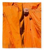 Buddhist Monks 02 Fleece Blanket