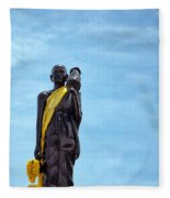 Buddhist Statue Fleece Blanket
