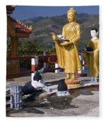 Buddhist Statues Fleece Blanket
