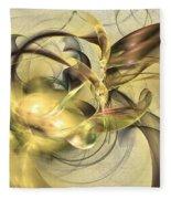 Budding Fruit - Abstract Art Fleece Blanket by Sipo Liimatainen