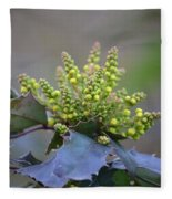 Budding Mahonia Fleece Blanket