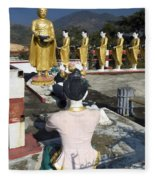 Buddist Shrine Fleece Blanket