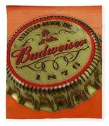 Budweiser Cap Fleece Blanket
